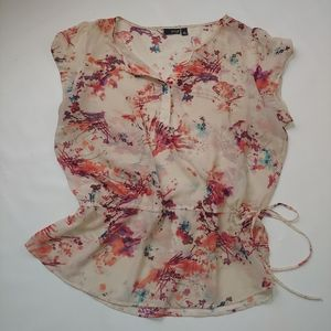 Ana floral top spring size Xl